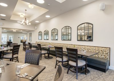 Dining Room inside Mosaic Management's Boone Ridge Senior Living