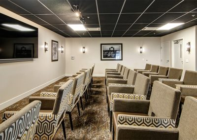 Movie Theater inside Mosaic Management's Boone Ridge Senior Living