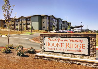 Mosaic Management's Boone Ridge Senior Living Sign