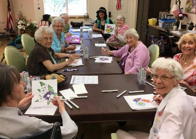 Residents during Art Class at one of Mosaic Management's Communities