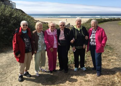 Group of Senior Residents at the Ocean