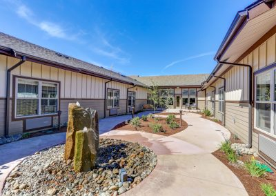 Mosaic Management's Willamette Springs Memory Care fountain